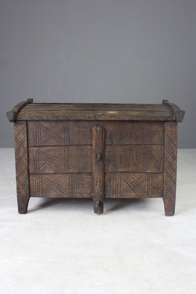 Antique Stained Beech Flour Ark - vintage retro and antique furniture