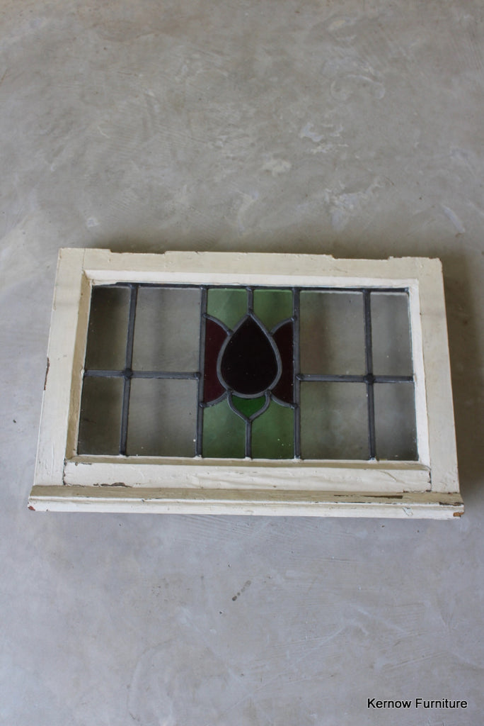 1930s Small Stained Glass Window - vintage retro and antique furniture