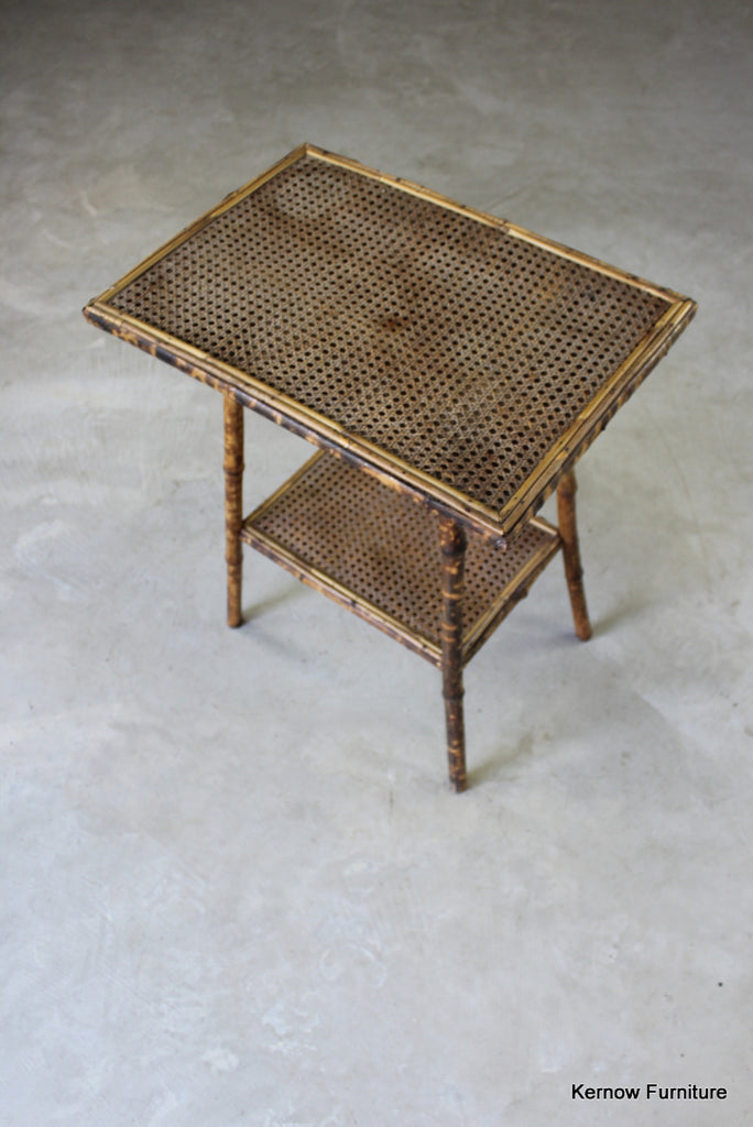 Bamboo Side Table - vintage retro and antique furniture