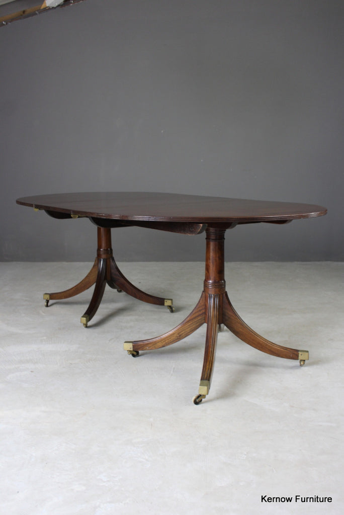 Regency Style Solid Mahogany Extending Dining Table