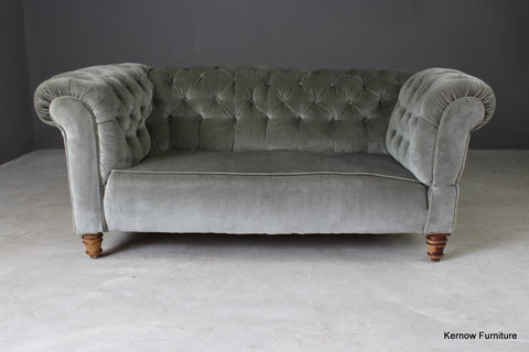 Antique Upholstered Chesterfield Sofa - vintage retro and antique furniture