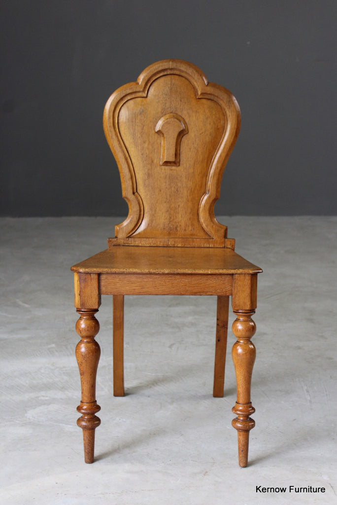 Golden Oak Victorian Hall Chair