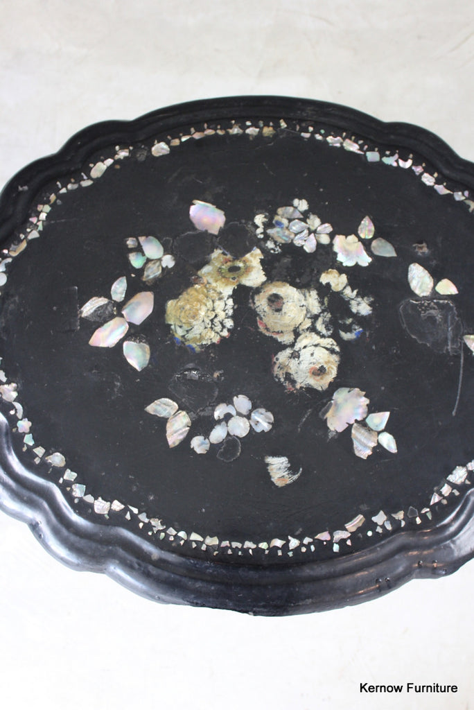 Mother of Pearl Papier Mache Side Table - Kernow Furniture