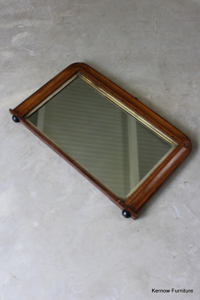Antique Tunbridge Style Overmantle Mirror - vintage retro and antique furniture