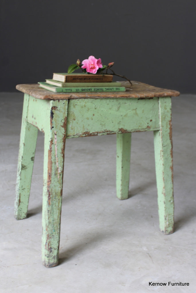 Antique Rustic Stool - vintage retro and antique furniture
