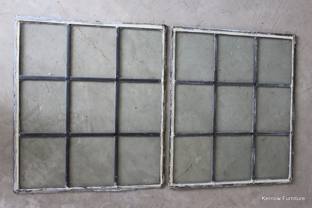 Pair Clear Glass Leaded Panels - Kernow Furniture