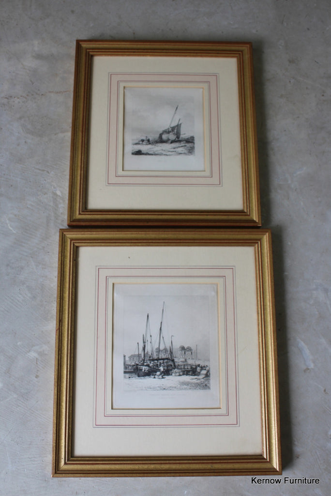 Pair Antique Nautical Prints