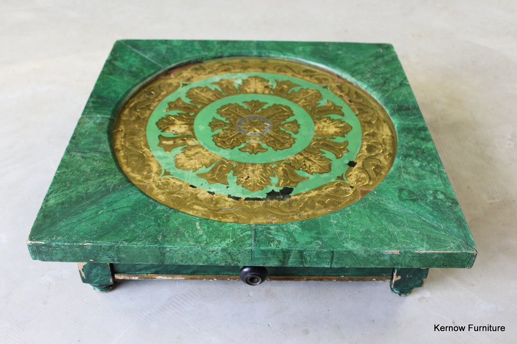 Eastern Green & Gold Work Box - Kernow Furniture