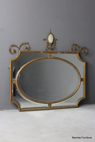 19th Century Adam Style Mirror - vintage retro and antique furniture