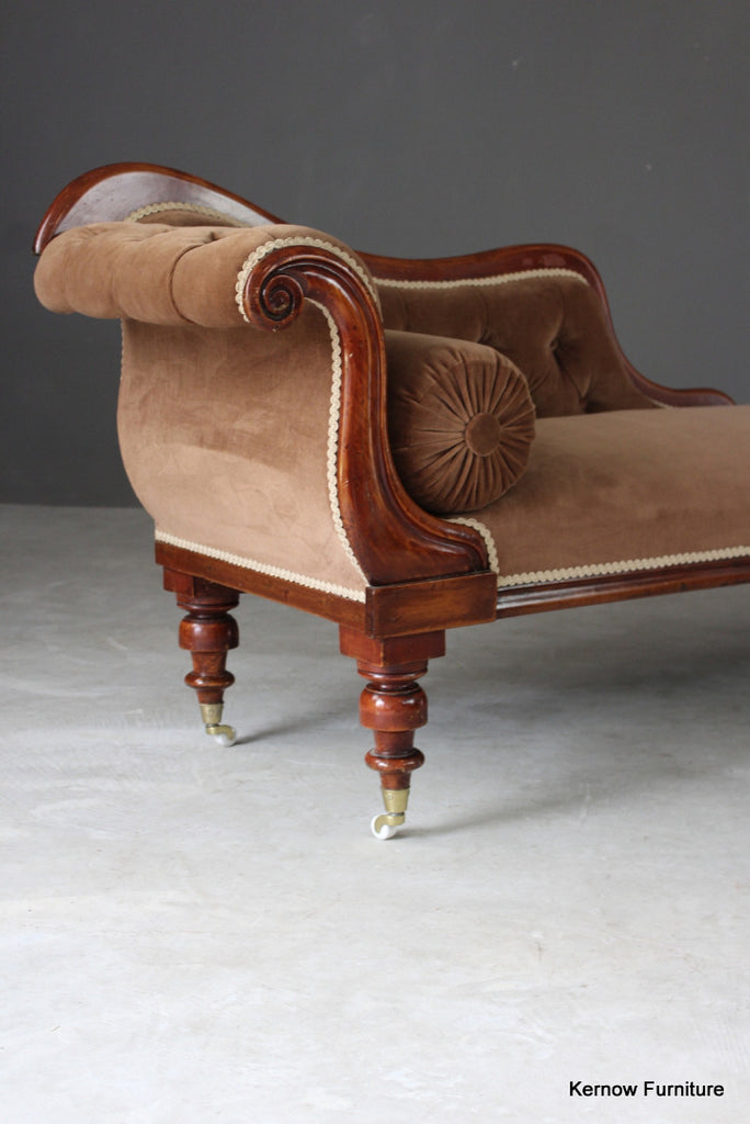 Victorian Upholstered Chaise Longue - Kernow Furniture