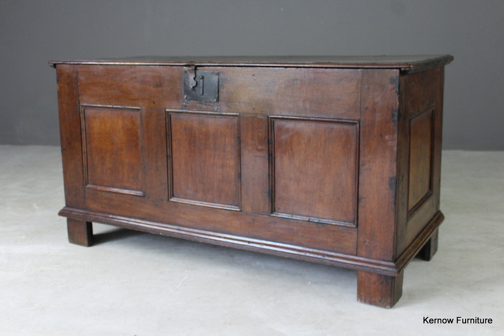 18th Century Oak Coffer - Kernow Furniture