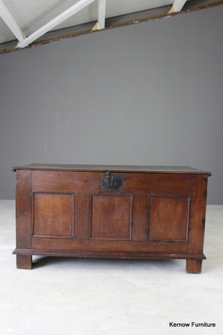 18th Century Oak Coffer - vintage retro and antique furniture