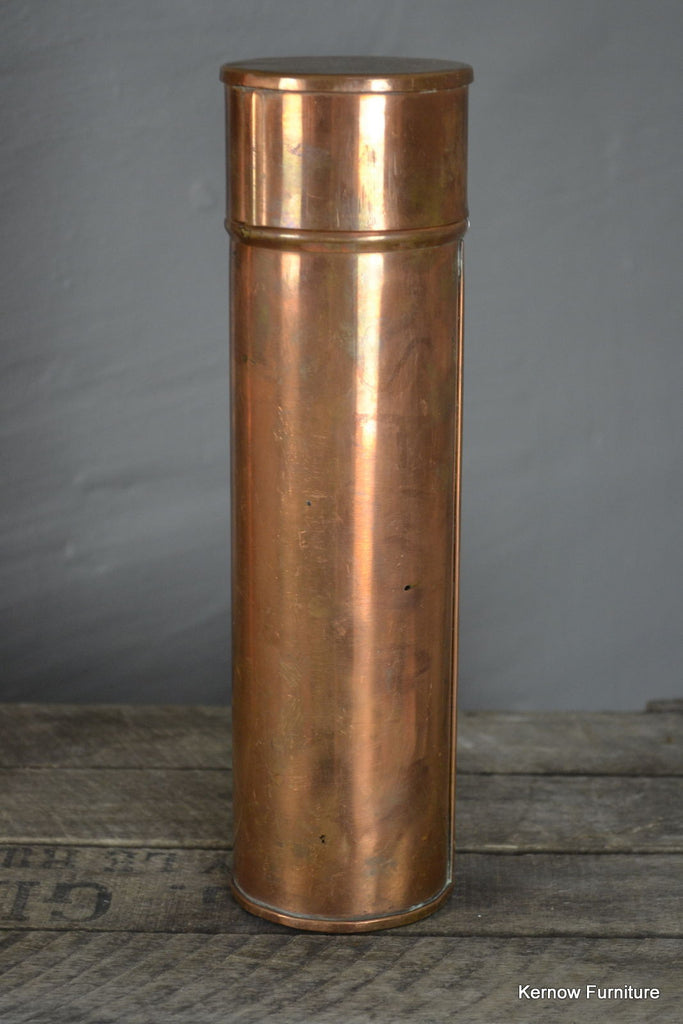 Antique Small Copper Canister - Kernow Furniture