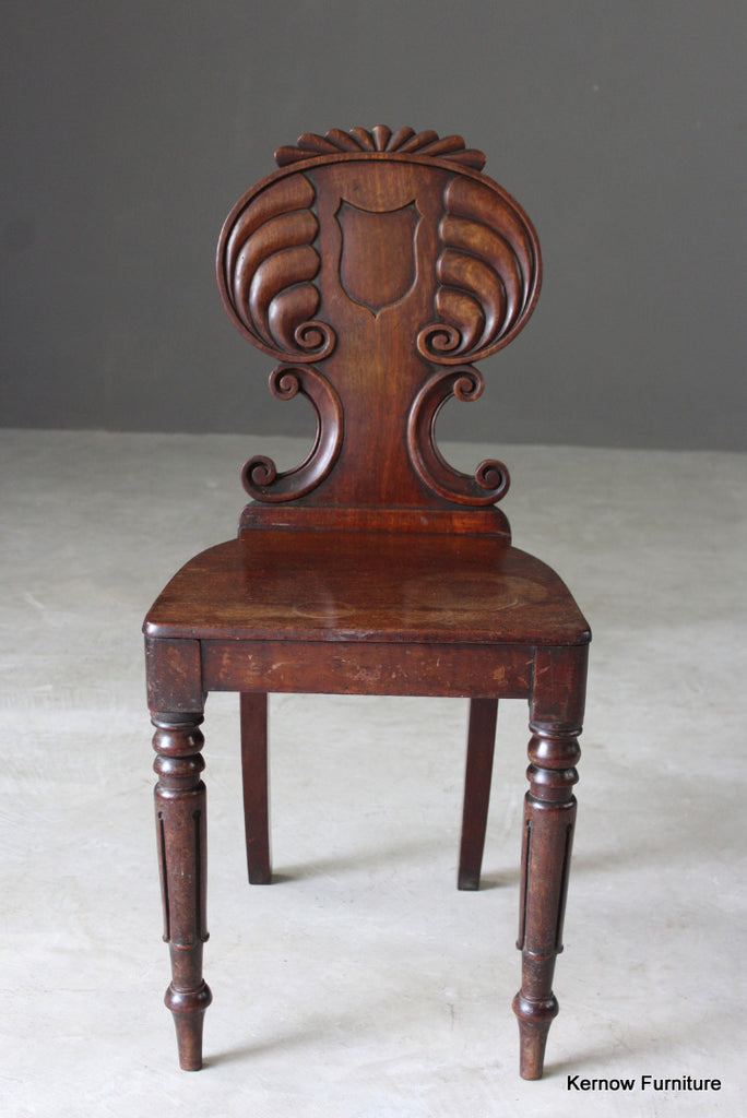 Antique Regency Hall Chair - vintage retro and antique furniture