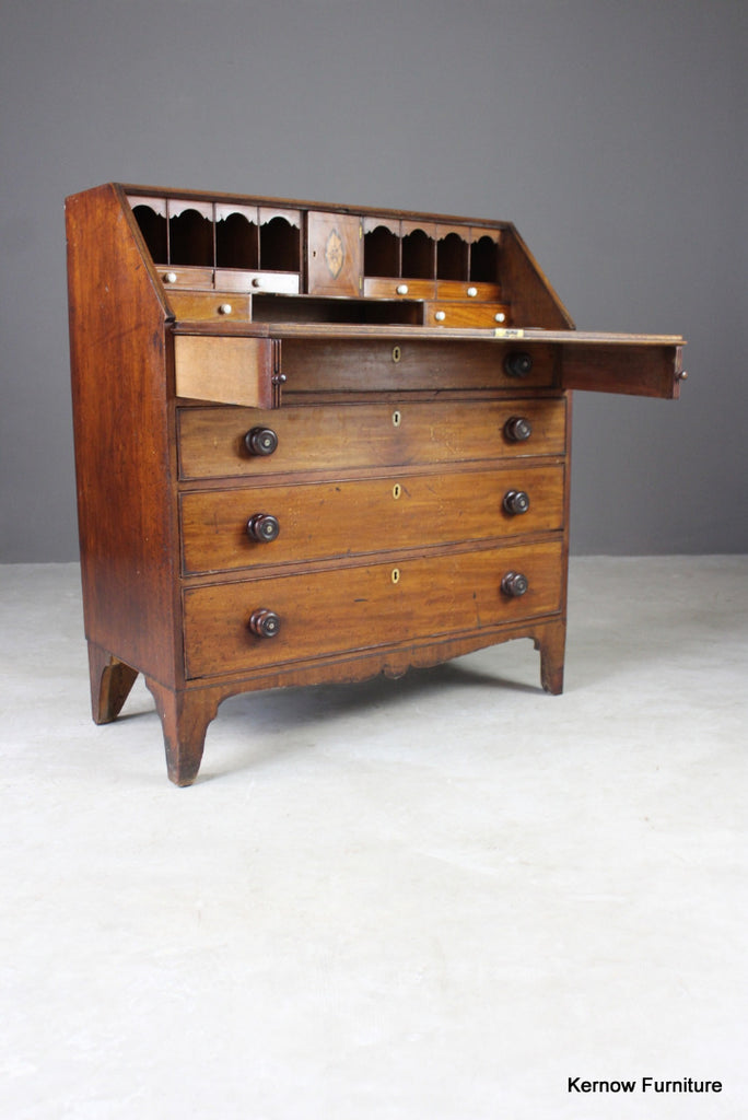 Georgian Mahogany Bureau - Kernow Furniture