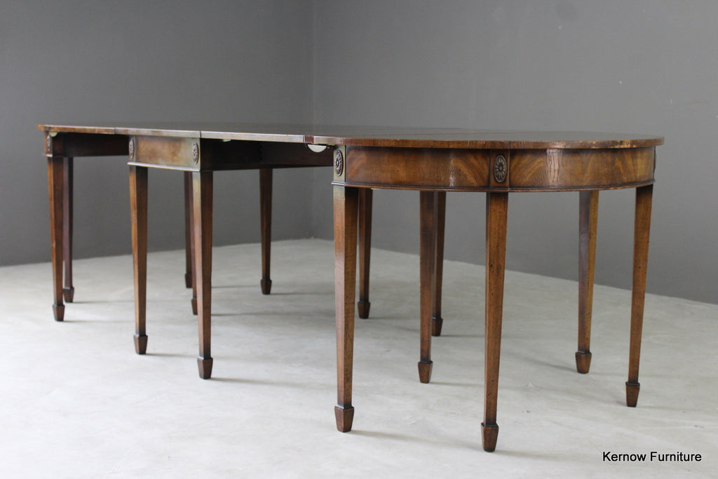 Antique Style Large Oval Extending Dining Table - vintage retro and antique furniture