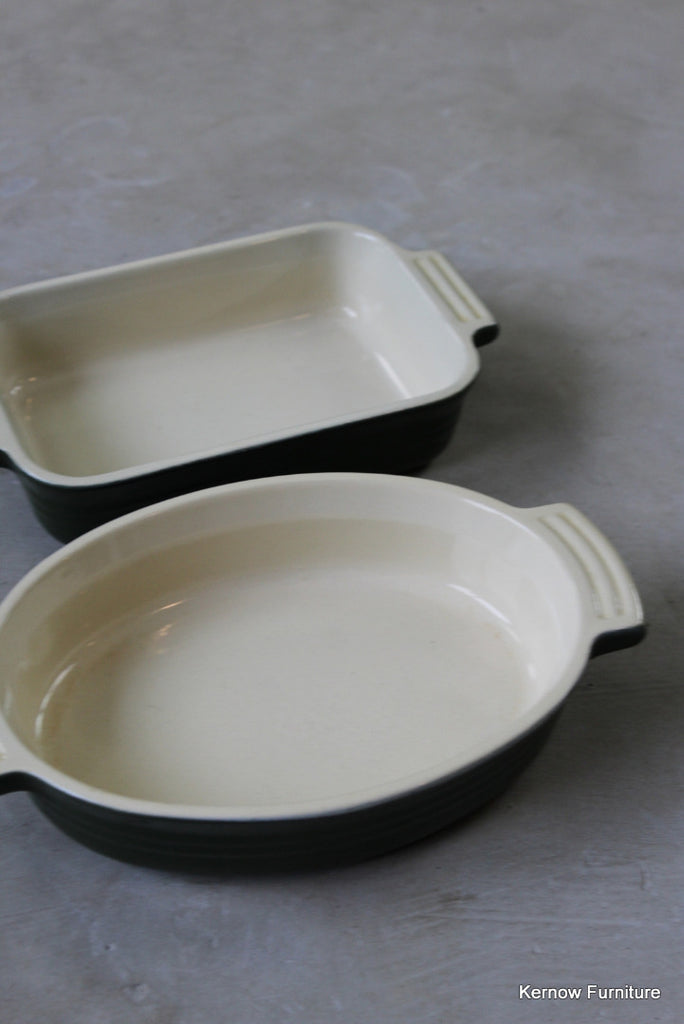 Pair Le Crueset Green Oven Dishes