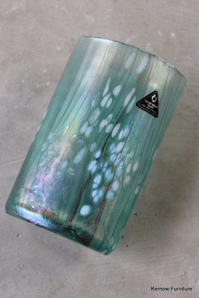Isle of Wight Green Glass Vase