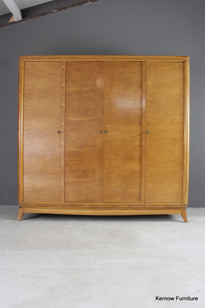 French Style Burr Maple Large Wardrobe