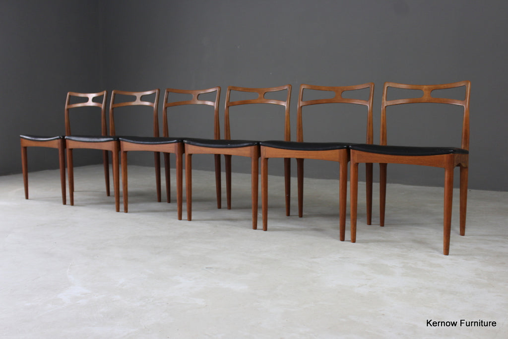 6 Johannes Andersen for Christian Linneberg Dining Chairs - vintage retro and antique furniture