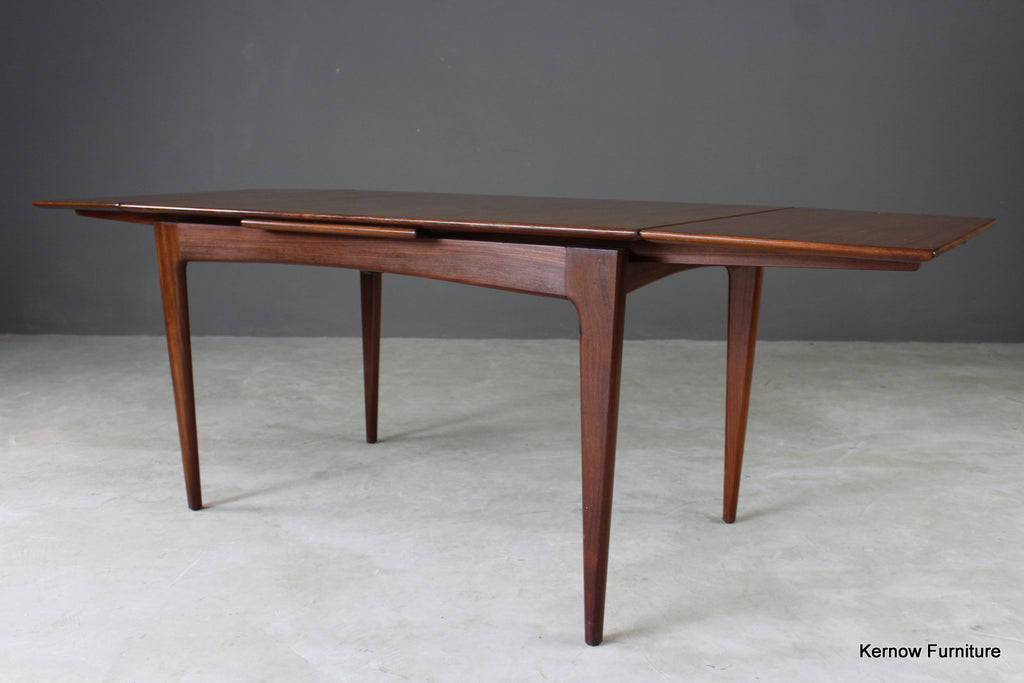 Mid Century A Younger Teak Extending Dining Table - Kernow Furniture