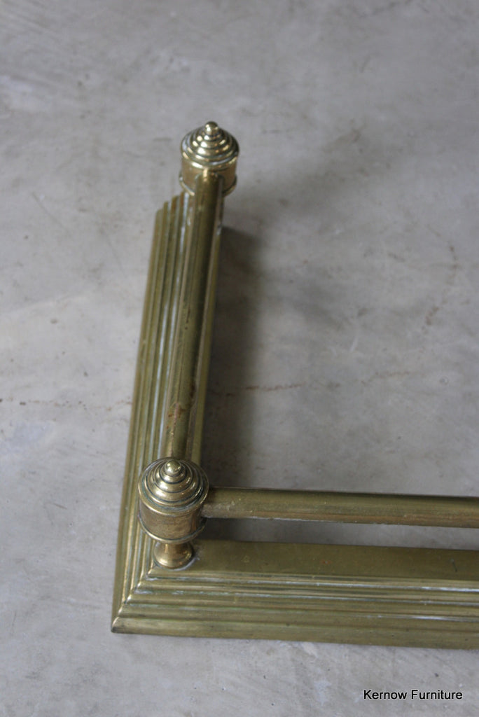 Victorian Brass Fire Fender - Kernow Furniture