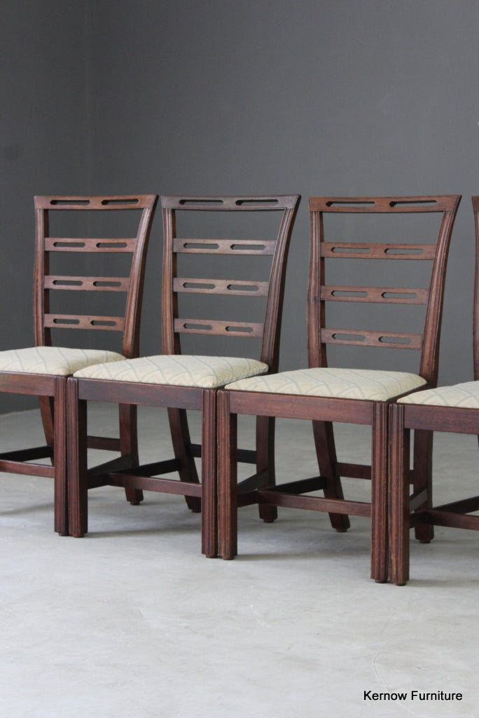 Antique Style Mahogany Dining Chairs - vintage retro and antique furniture