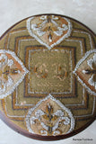 Antique Beadwork Footstool - Kernow Furniture