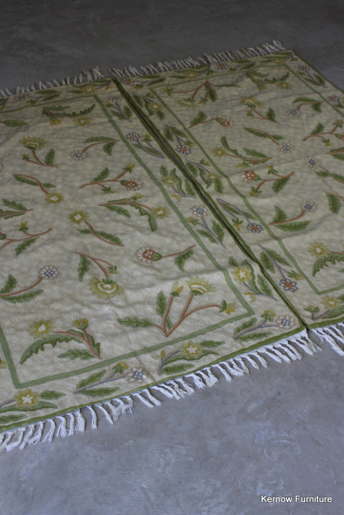 Pair Indian Kashmir Chainstitch Rugs - Kernow Furniture