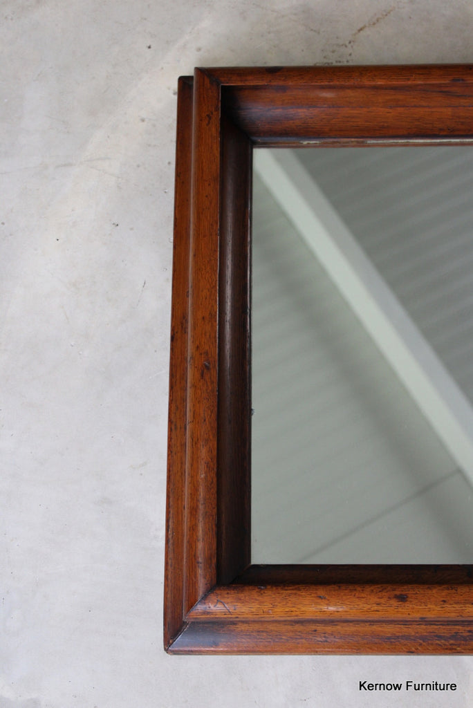 Antique Oak Rectangular Wall Mirror - Kernow Furniture