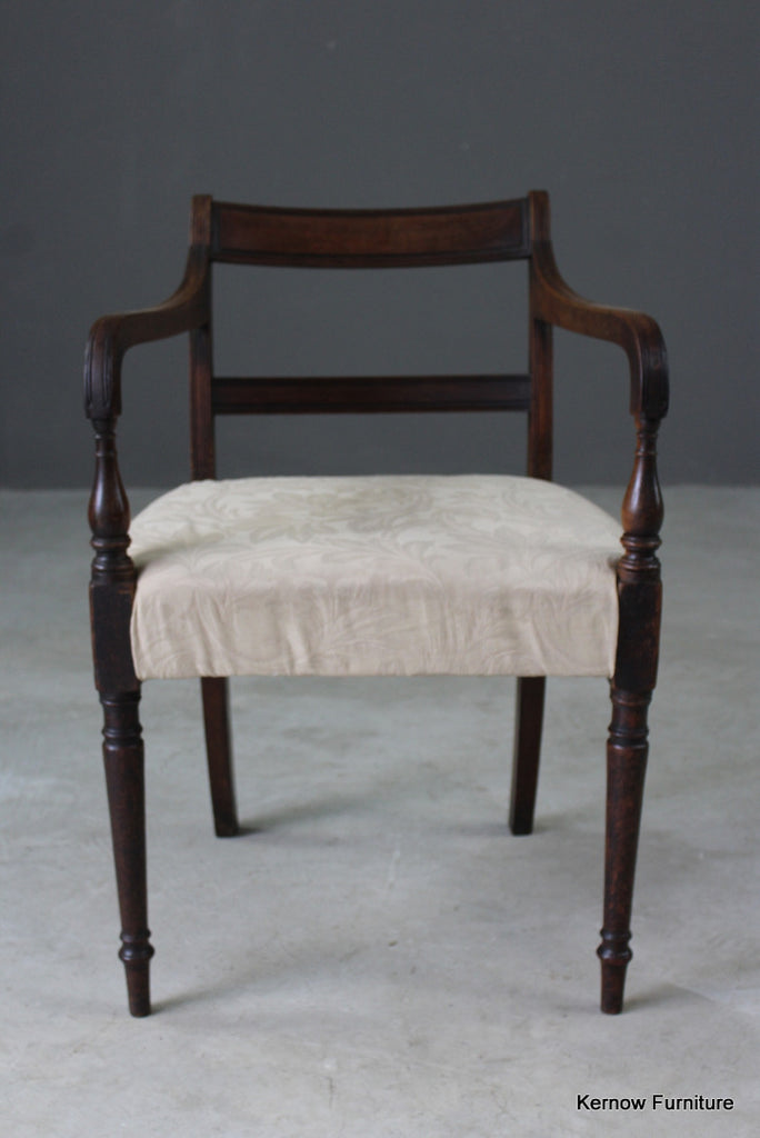 Single Antique Mahogany Carver Chair - Kernow Furniture