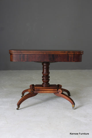 Regency Rosewood Card Table