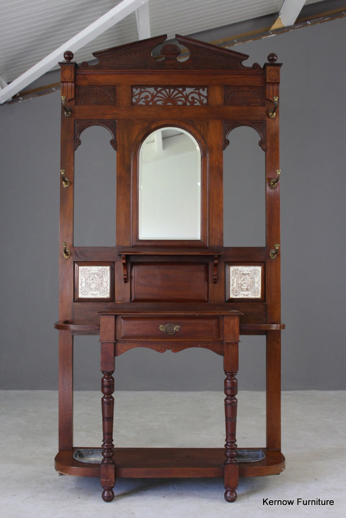 Victorian Walnut Hall Stand