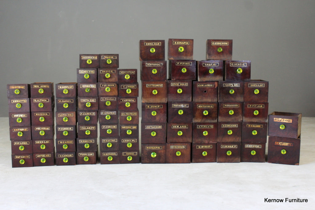 Antique Victorian Apothecary Drawers - vintage retro and antique furniture
