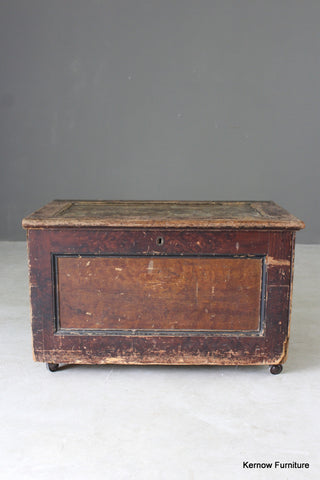 Rustic Stained Pine Storage Chest - Kernow Furniture