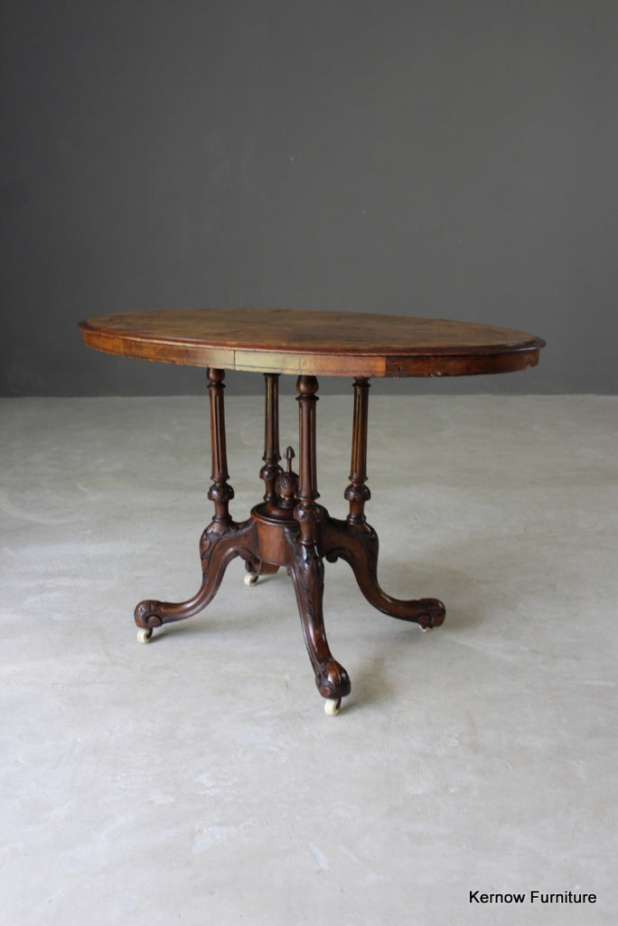 Victorian Inlaid Oval Centre Table