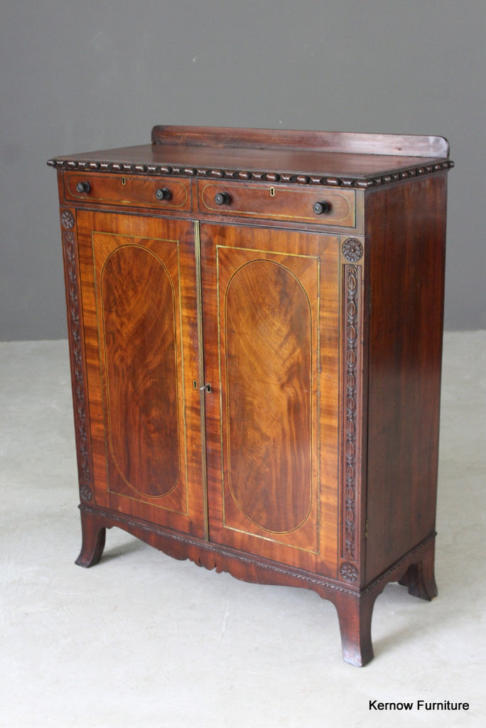 Antique Mahogany Side Cabinet - vintage retro and antique furniture