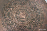 Arts & Crafts Copper Round Table - vintage retro and antique furniture