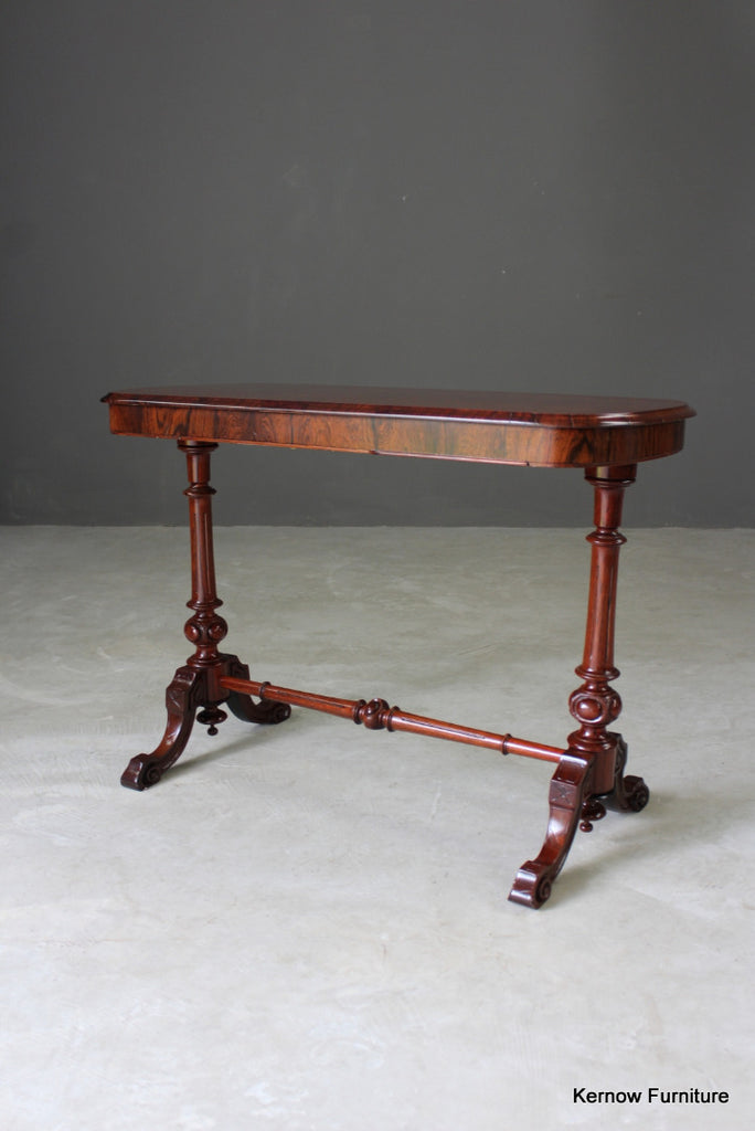 Reproduction Rosewood & Walnut Occasional Table - Kernow Furniture