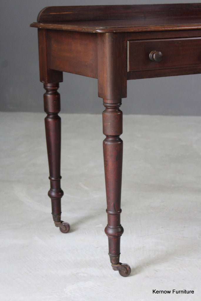 Antique Victorian Mahogany Writing Table - Kernow Furniture