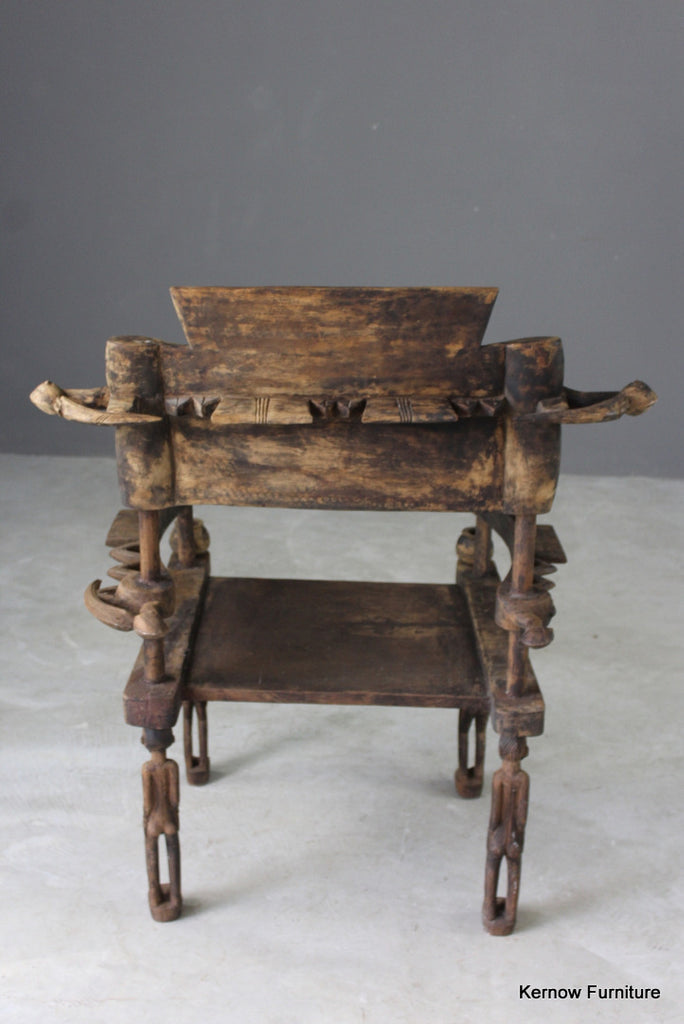 Carved African Tribal Chiefs Chair - Kernow Furniture