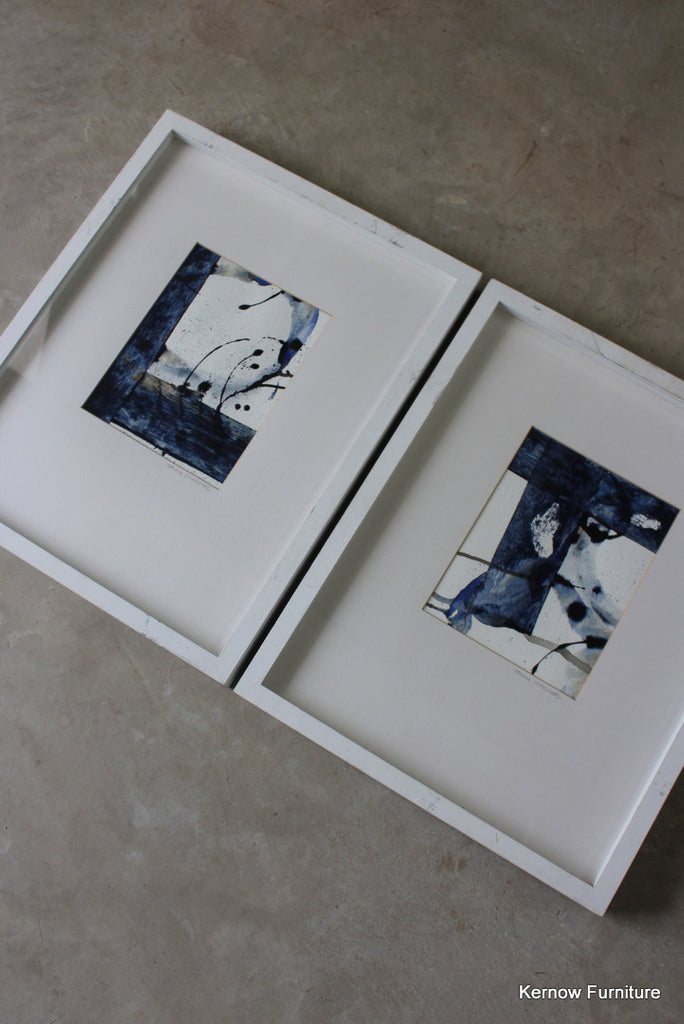 Pair Sally MacCabe Watercolours - Kernow Furniture