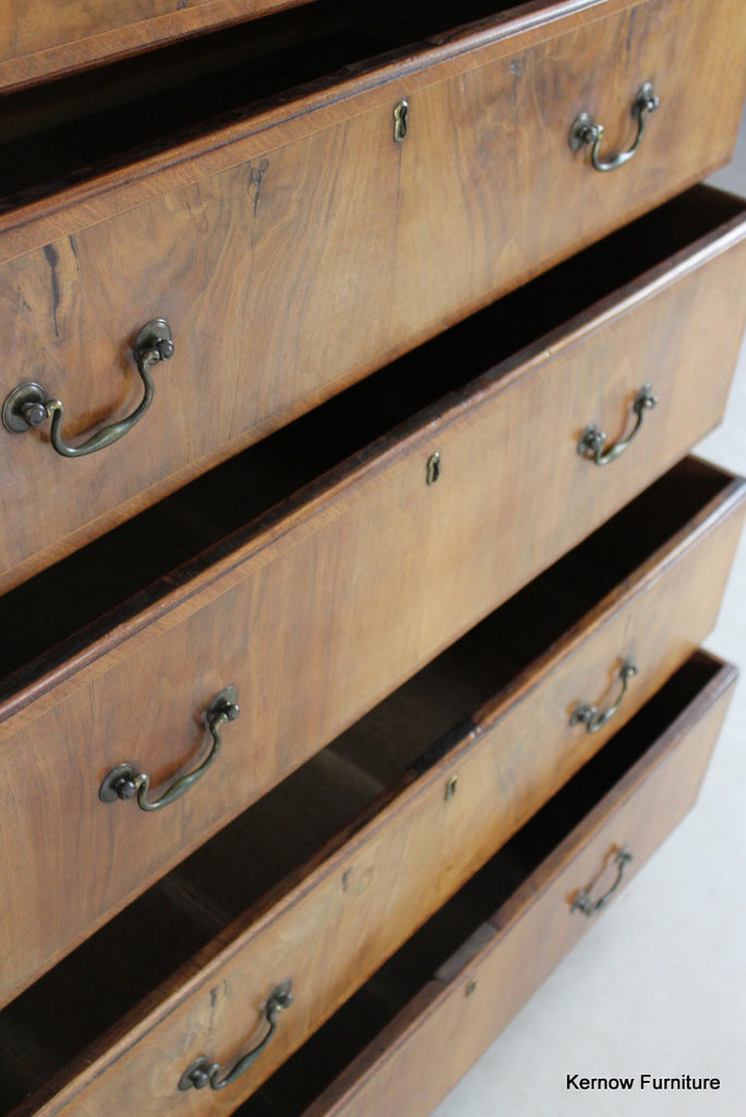 Antique Walnut Chest on Chest - Kernow Furniture