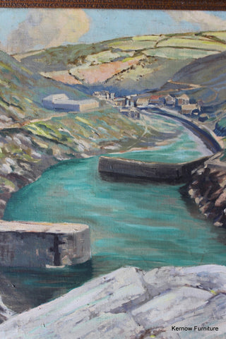 Boscastle Oil On Canvas