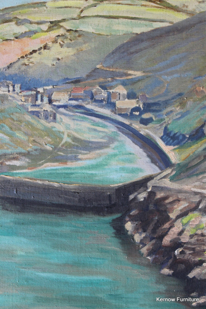 Boscastle Oil On Canvas - Kernow Furniture