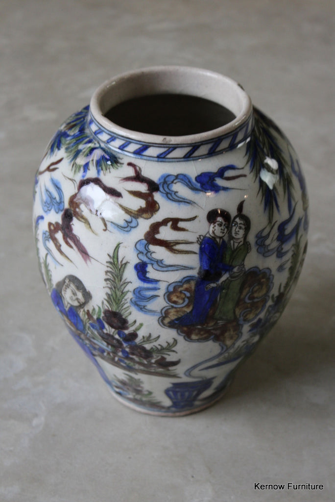 Isnik Style Pottery Vase - Kernow Furniture