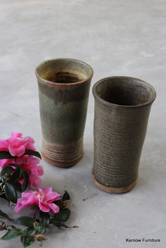 Pair Stoneware Vase - Kernow Furniture