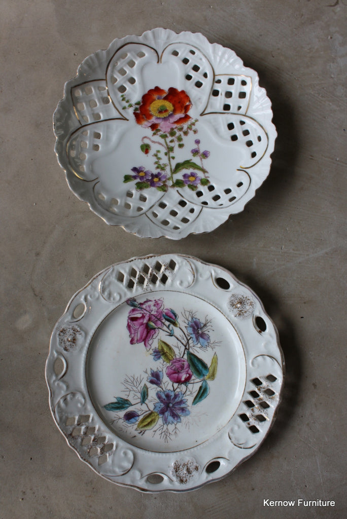 Pair Pierced China Plates