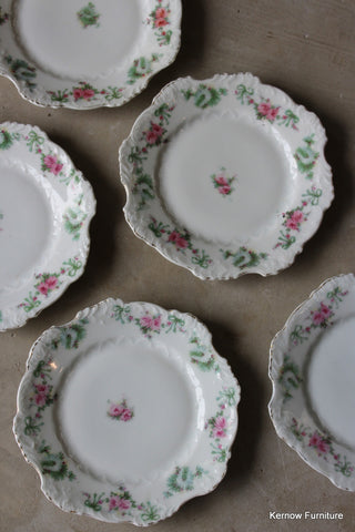 5 Vintage Hermann Ohme Silesia Floral Side Plates - vintage retro and antique furniture