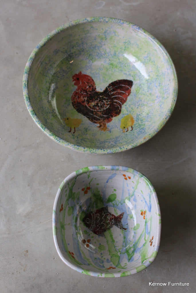 Spongeware Bowls - Kernow Furniture